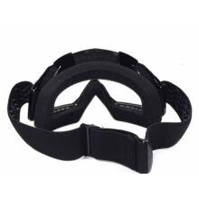 FTM-007 Cross szemüveg Átlátszó plexivel (Fekete)