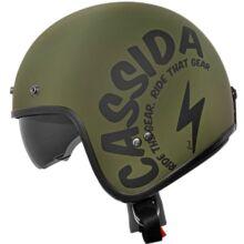 Cassida Oxygen Gear Matt Zöld Nyitott Bukósisak Napszemüveggel