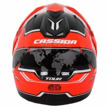 Cassida Tour Globe Cross Bukósisak Felnyitható plexivel és Napszemüveggel
