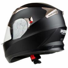Horn H829 Matt Fekete Zárt Bukósisak Napszemüveggel