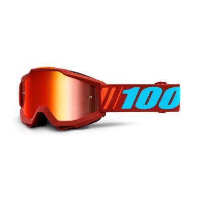 100% - Accuri Dauphine Cross Szemüveg - Piros tükrös plexivel