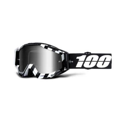 100% - Racecraft Alta Szemüveg - Ezüst tükrös plexivel