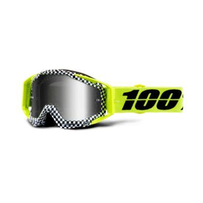 100% - Racecraft Andre Cross Szemüveg - Ezüst tükrös plexivel