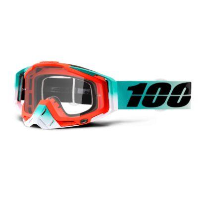 100% - Racecraft Cubica Szemüveg - Átlátszó plexivel