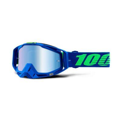 100% - Racecraft Dreamflow Szemüveg - Kék tükrös plexivel