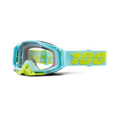 100% - Racecraft Pinacles Szemüveg - Átlátszó plexivel