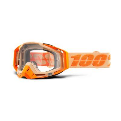 100% - Racecraft Sahara Cross Szemüveg - Átlátszó plexivel