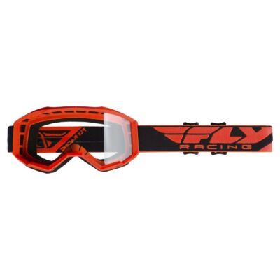 Fly Racing - USA Cross szemüveg narancs színben, átlátszó plexivel
