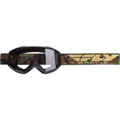Fly Racing - USA Cross szemüveg terep színben, átlátszó plexivel