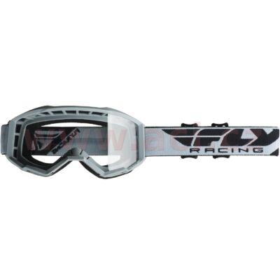 Fly Racing - USA Cross szemüveg szürke színben, átlátszó plexivel