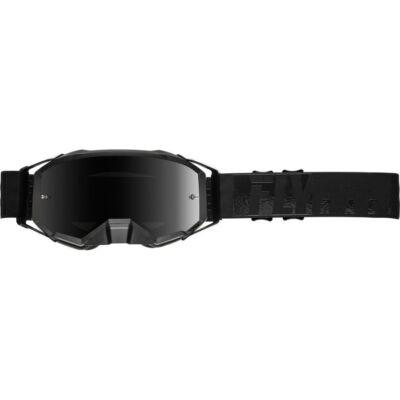 Fly Racing - Zone Cross szemüveg fekete színben, füst színű plexivel