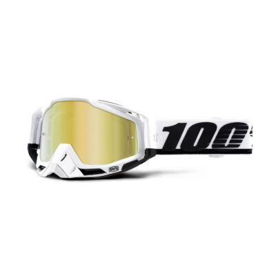 100% - Racecraft Stuu Cross Szemüveg - Arany tükrös plexivel