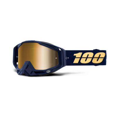 100% - Racecraft Bakken Szemüveg - Arany tükrös plexivel