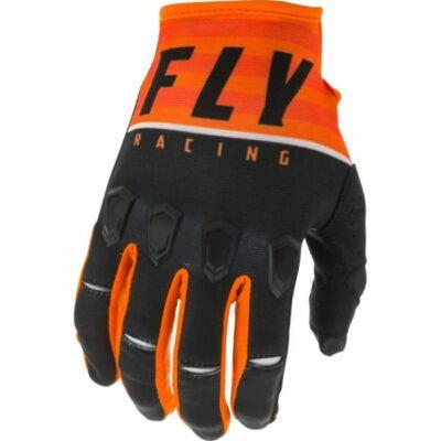 FLY RACING, KINETIC K120 2020 MOTOROS KESZTYŰ (NARANCS - FEKETE - FEHÉR)