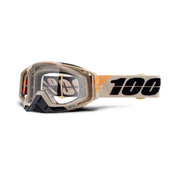 100% - Racecraft Poliet Cross Szemüveg - Átlátszó plexivel
