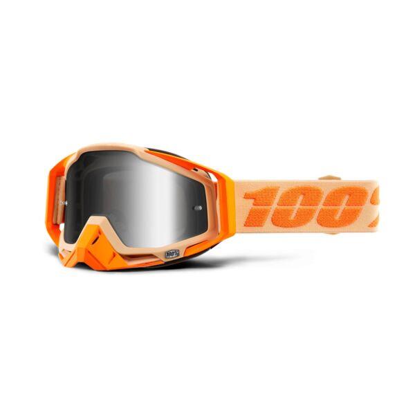100% - Racecraft Sahara Cross Szemüveg - Ezüst tükrös plexivel