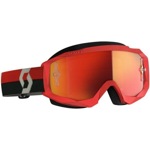 Scott - Hustle MX (Piros - szürke, narancs króm plexi)