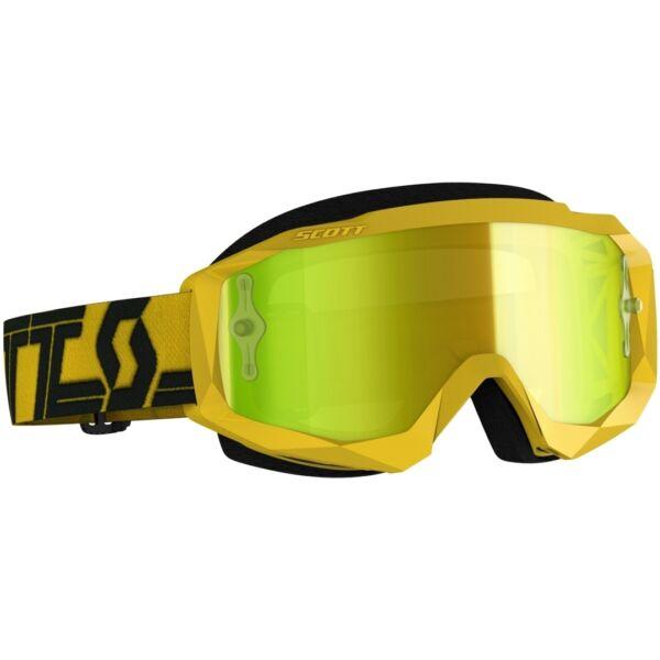 Scott - Hustle MX (Sárga - fekete, sárga króm plexi)