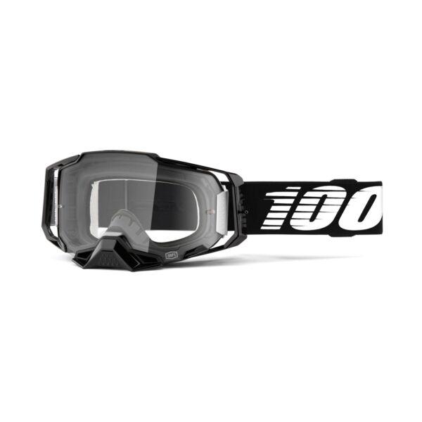 100% - Armega Szemüveg (Fekete) - Átlátszó plexivel