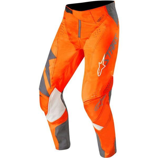 Alpinestars - Techstar Factory motoros nadrág (Narancs -  szürke)