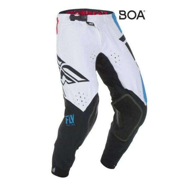 Fly Racing - Evo motoros nadrág (Fehér - fekete)