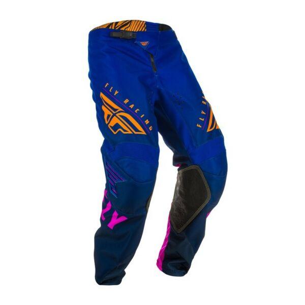 Fly Racing - Kinetic K220 motoros nadrág (Kék - narancs)